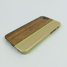 Apple Iphone 6 6s Plus + cover case hard back real bamboo wood wooden oak brown