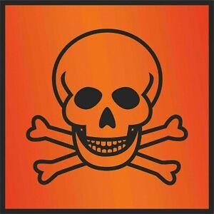Aufkleber Gefahrgut - Giftig