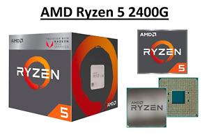 AMD Ryzen 5 2400G Quad Core Processor 3.6 - 3.9 GHz, Socket AM4, 65W CPU