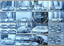 RARE LOT 16 PHOTOGRAPHIES 1997 GAMME PORSCHE WERKFOTO PORSCHE AG PRESS FACTORY