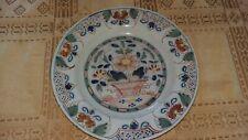 18th century englsh pottery tin glaze delftware plate,dish circ 1770