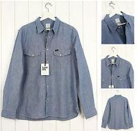 NEU Lee 101 Jeanshemd hellblau Regular Fit Vintage 30% Flax S/M/L/ XL/XXL