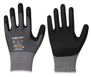 Arbeitshandschuhe LeikaFlex Handschuhe  Montagehandschuhe Nitril Gr.10-11