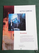 AZTEC CAMERA - MAGAZINE CLIPPING / CUTTING- 1 PAGE ADVERT