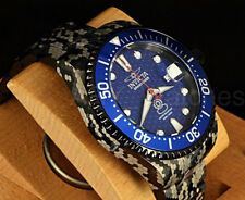 Invicta 300M Marine Sniper Cameo/Pixilated SS Automatic Grand Diver Bracelet Wat
