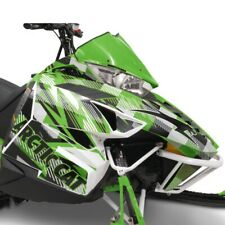 Arctic Cat Team Green Strobe Hood & Side Panel Decal Wrap - 2012-2018 ZR F XF M