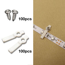 100 Pcs Mounting Brackets for LED Strip Light, Fixing Clip, One-Side Fixing