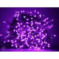 Catena 10 metri serie 100 luci di Natale a Maxi Led Viola con flash per esterno