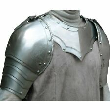 Medieval Larp Gothic steel Pair Of Pauldrons With Gorget Shoulder Armor Set