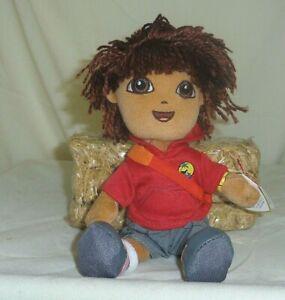 Diego TY Beanie Babie 8in boy doll Dora the Explorer collection new MWMT 40423