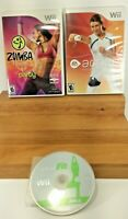 Lot of 3: Wii Fit , Zumba, Active Personal Trainer Video Games Working!