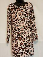 Bar III Womens Animal Print Tunic Top Blouse Shirt Lined Size Small