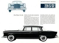 1322MB Mercedes 220 S SE Prospekt 1959 7/59 deutsch brochure W 111 broschyr