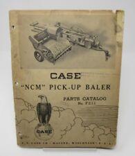 "Original 1950 Case ""NCM"" Pick-Up Baler Parts Catalog No. F211 Racine Wisconsin"