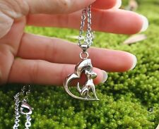 Dog Cremation Necklace Jewelry Pendant Urn Ashes Forever in My Heart Puppy Angel