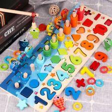 Kinder Montessori Mathe Spiel Multifunktionen Zahlen Rechnen Holzspielzeug DHL