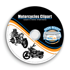 MOTORCYCLE-CHOPPER-BIKER CLIPART-VECTOR CLIP ART-VINYL CUTTER PLOTTER GRAPHIC CD