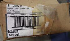 "67 X BrassCraft SUPPLY TUBE 3/8"" X 19.5"" 20"" Copper Faucet Riser Supply 1-20A C"