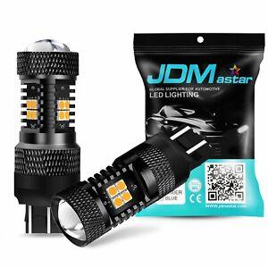 JDM ASTAR 2pc Super Bright 7443 7440 Amber 3030 SMD LED Turn Signal Lights Bulbs