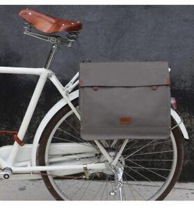 TOURBON Waterproof Bicycle Messenger Crossbody Bag Clip-on Bike Bag Pannier Grey