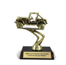 Car Trophy- Jeep- Classic- Off Road- Desktop Series- Free Lettering