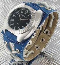 + Wristwatch °° Nele Fortados  DAMENUHR mit Armband im Jeans-Look  JB020812a