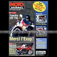 MOTO JOURNAL N°1232 YAMAHA YZF 750, GUZZI DAYTONA 1000 RS, HONDA CR 250 1996