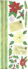 POINSETTA POST Christmas Scrapbook Stickers and Borders