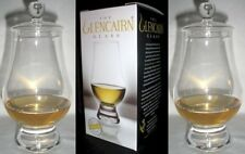 (2) GLENCAIRN WHISKY GLASSES WITH TWO GINGER JAR TOPS