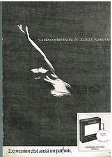 """Publicité Advertising 1980 Le Parfum """"Expression"""" par jacques fath"""