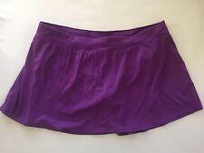 20W Swimsuit Skirted Bottom Purple New Plus Size Bathing Suit Bottom Pool Beach