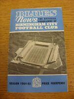 24/10/1964 Birmingham City v Blackpool  (Creased, Folded, Nicks). Thanks for tak