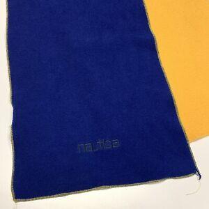 Nautica Two Tone Mens Adult Fleece Neck Scarf Blue Yellow Winter