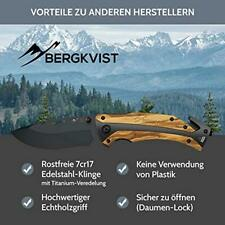 BERGKVIST® Couteau de poche K29 Titanium [2019] 3-en-1 Couteau pliant I Couteau