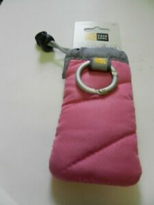 "New! Case Logic UP-1 Universal Pockets SMALL - Pink, 5"" x 2.5"" with caribener"