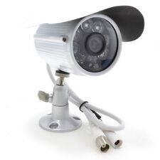 Blupont White 800TVL Bullet CCTV Camera HD IP66 Waterproof Indoor/outdoor 20M IR
