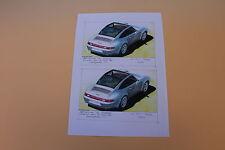 RT Feuille A4 papier PORSCHE 911 Targa 1996 Miniatures du Château Heco 1/43