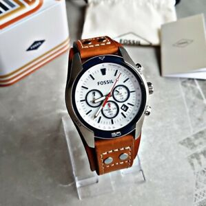 Fossil Herrenuhr Uhr Armbanduhr Chronograph Edelstahl Coachman CH2986