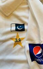 NWT Pakistan Cricket Team Original Test Match Tshirt Half Sleeves White Cotton L