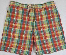 Polo Ralph Lauren Plaid Swim Shorts Swimming Rope Closure Size XXL NWT $90