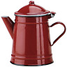 IBILI Coffee Pot Roja conical 1 l of Enamelled Steel in red, 10 x 10 x 20 cm