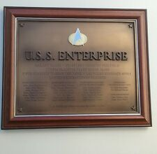 Star Trek~ U.S.S. Enterprise~ Franklin Mint NCC-1701-D~ Plaque