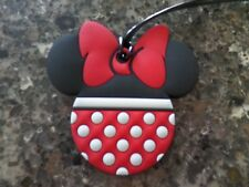 Disney Travel Luggage Bag Tag Minnie Mouse Polka Dot Red White NEW