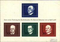 BRD Block4 (kompl.Ausgabe) Ersttagssonderstempel gestempelt 1968 Konrad Adenauer