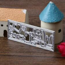 Letters Love Cutting Dies Stencils DIY Scrapbooking Diary Paper Card Embossing