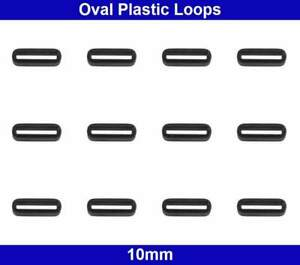 Oval Plastic Loops - 10mm - Belt Collar Bag