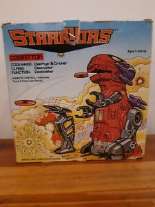 Vintage 1984 Tomy Starriors Cosmittor Open Box  Never Removed