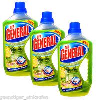 (5,25€/L) 3x 750ml Der General Allzweckreiniger Aktiv 6 Frische Zitrone NEU