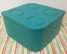 Tupperware Large Food Storage Containers Fresh N Cool Refrigerator 21 Cups Teal