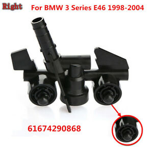 61674290868 Headlight Right Washer SPRAY NOZZLE For BMW 3 Series E46 1998-2004